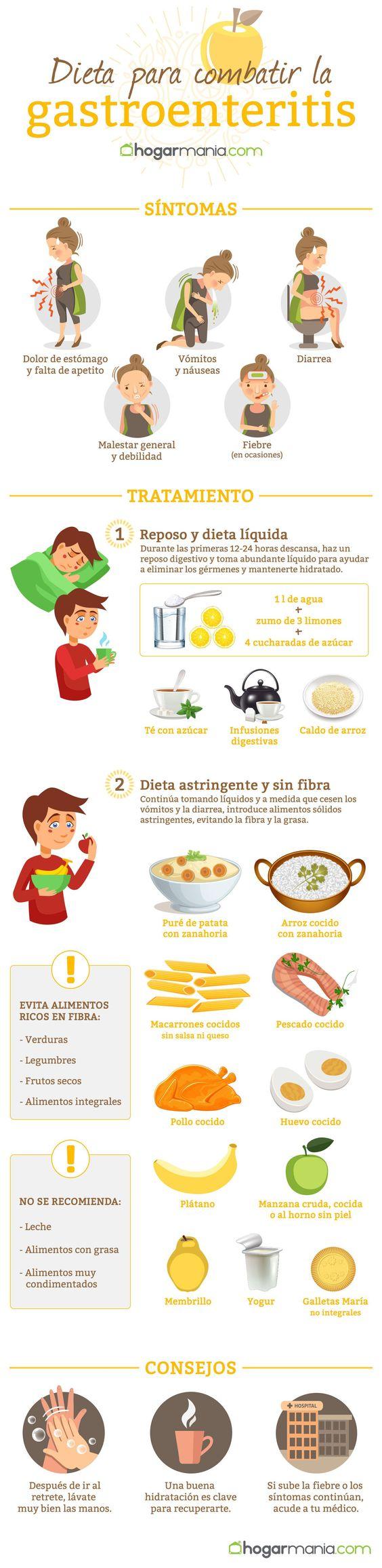 Dieta para combatir la gastroenteritis - Alimentos para evitar la diarrea ...