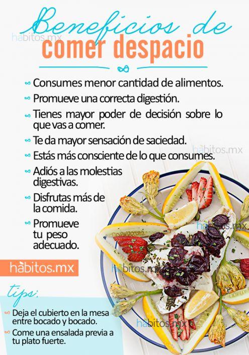 Beneficios de comer despacio - Anemia alimentos recomendados ...